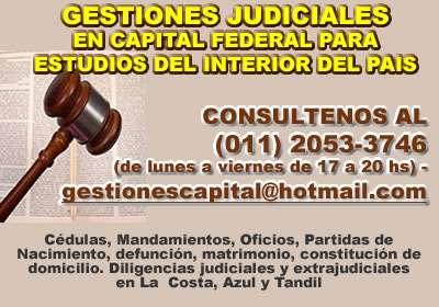 Diligencias judiciales en capital federal