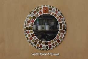 Espejos artesanales, simil vitrofusión. regalos