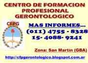 Auxiliar Gerontologico CFGP (zona San Martin)