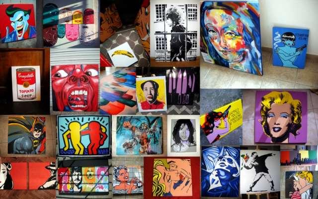 Cuadros, reproducciones de arte, pintado a mano