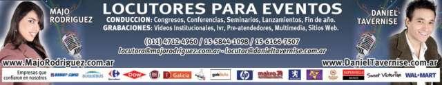 Locutores majo y daniel - conductores de eventos - locuciones para empresas, grabaciones