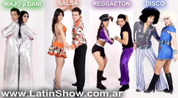 Show de baile y juegos, majo y dani, show de pareja de baile, salsa, latino, reggaeton, disco!