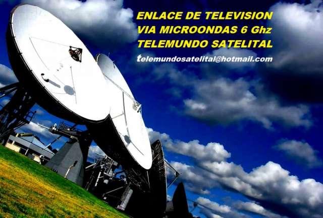 Enlace de tv o radio via microondas. banda 6 ghz. nuevo