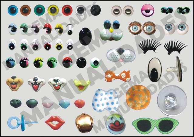 Ojos para amigurumis, ojos para peluches, ojos para duendes, manualidades!
