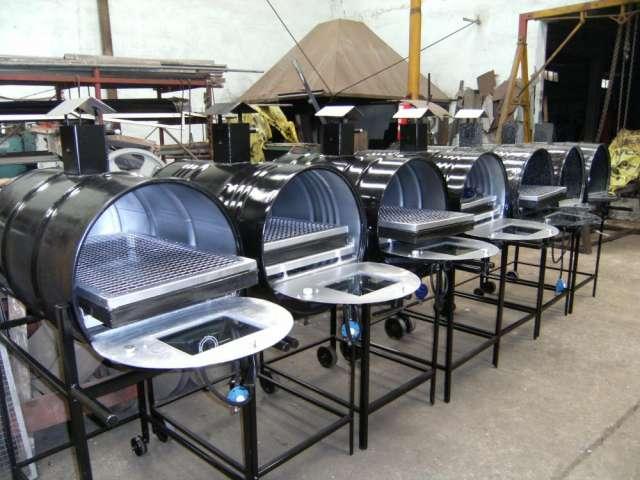 Hornos de tambor 200l pintados y enlozados.