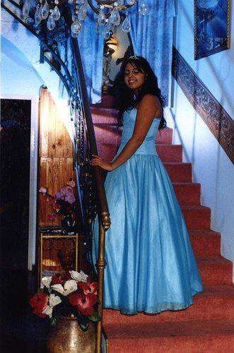 Vestido de 15 años color turquesa usado solo una vez!!