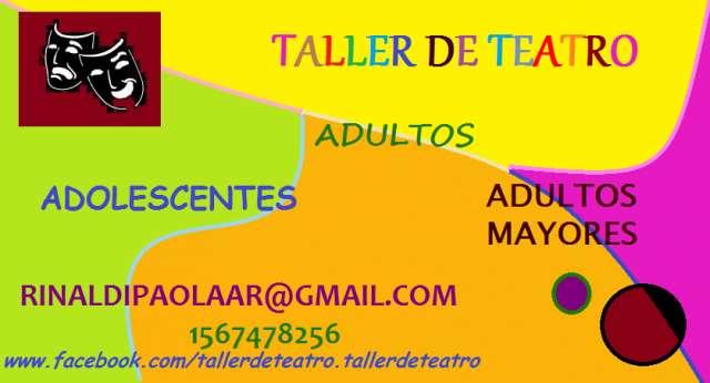 Taller de teatro para jóvenes, adolescentes y adultos mayores