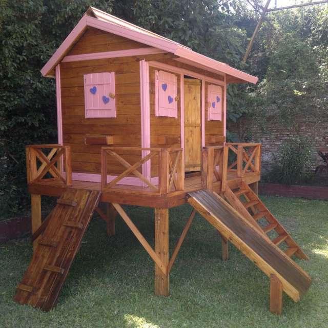 Casitas de madera artesanales para niños