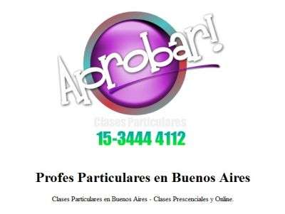 Clases particulares fisica i, ii, iii y iv