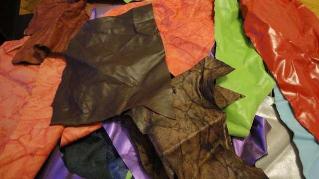 Retazos de cuero - venta por kilo colores surtidos, envíos a todo el país.