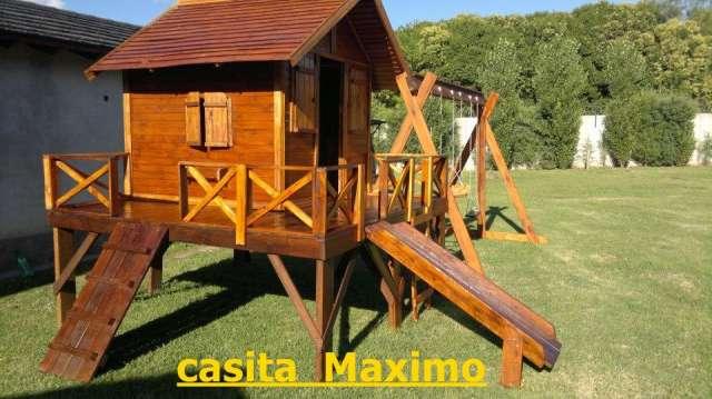Casitas de madera para niños fabricadas con materiales de primera calidad.