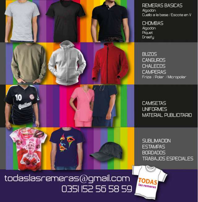 33024c96fd Remeras, buzos, gorras personalizadas en Córdoba - Ropa y calzado ...