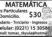 Clases Particulares de Matemática a DOMICILIO!!