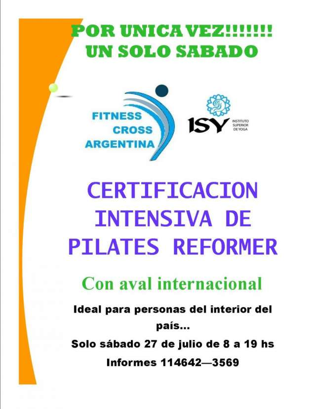 Workshop intensivo pilates reformer fitness cross internacional