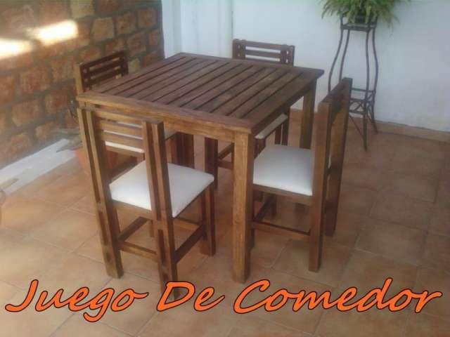 oferta juego de comedor de madera, nuevo!! en Santa Lucía ...