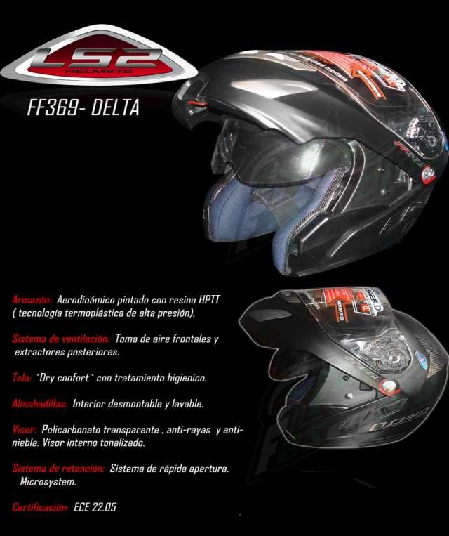 Vendo casco rebatible ls2 delta c/doble visor,impecable 1500$