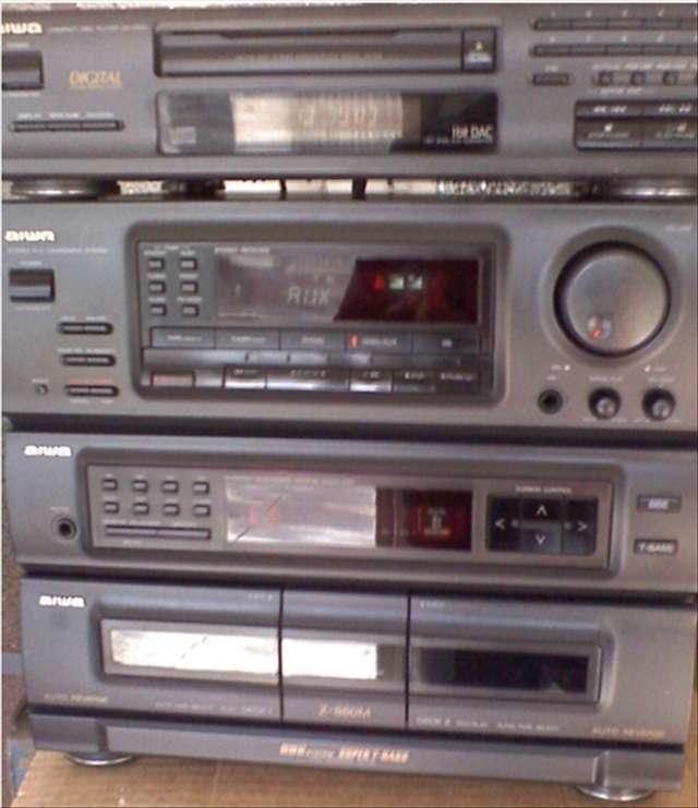 Minicomponente equipo de audio aiwa z-880 sintoamplificador años ´90
