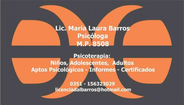 Licenciada en psicologia - consultorio privado