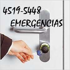 Emergencias cerrajeria las 24hs 4519-5448 a
