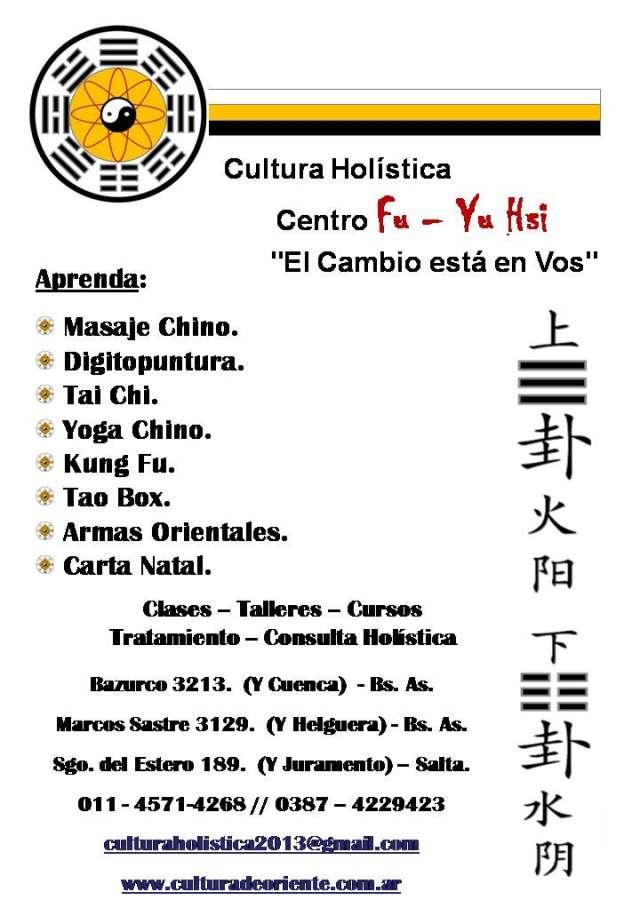 """""""arte, cultura y tradiciones del antiguo oriente"""" centro holístico fu-yu hsi"""