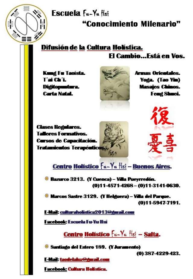 """Centro holístico fu-yu hsi """"artes orientales"""""""