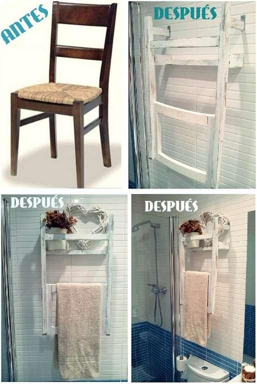 Cómo armar un toallero con una silla vieja reciclada