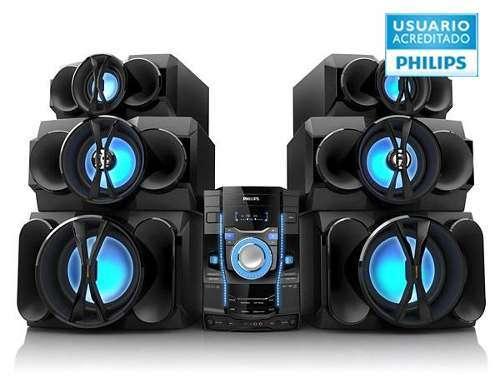 Equipo audio philips fwt9200x/77 2000w para tv con karaoke