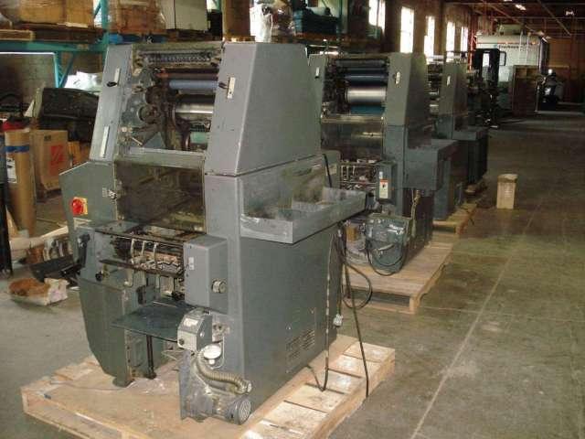 Vendo maquinas para imprenta multilith 1250 ,1450 ,neibiolo 2 colores y tok