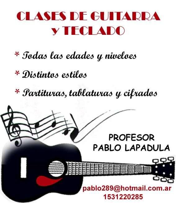 Clases de guitarra criolla-eléctrica y teclado