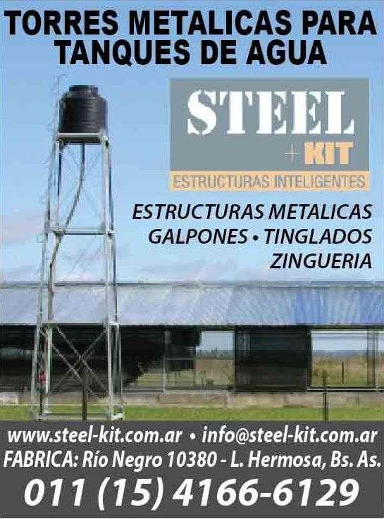 Torres metálicas para tanques de agua - modulares