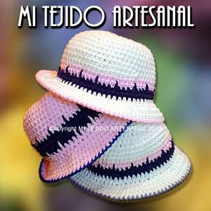 Sombreros tejidos al crochet para damas y adolescentes en Balvanera - Ropa  y calzado  98f27843a08