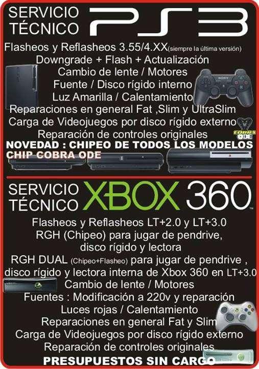 Servicio tecnico - xbxo 360 - ps3 - ps2 - wii - psp - wiiu