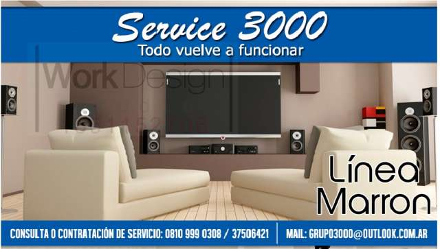Service tv led lcd audio y video tablets notebook camaras digitales