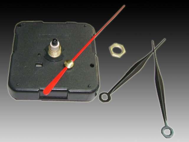 Maquina para reloj ideal para artesanias completa con agujas marca la ganga del busca , insertos , cuadrantes , numeros .