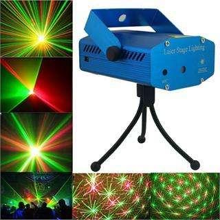 Mini laser verde y rojo audioritmico con tripode