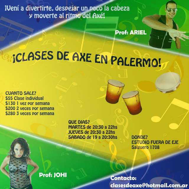 Clases de axé/lambaeróbica/brasilero