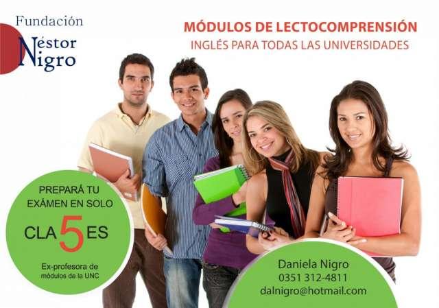 Examen de lectocomprensión en inglés para universitarios