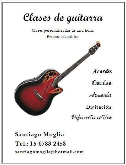 Clases de guitarra acústica en quilmes