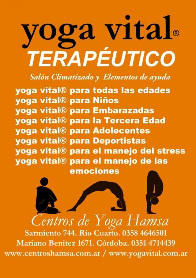 Clases de yoga vital terapéutico