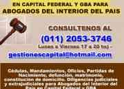 Tramites Judiciales  en San Luis 11 2053 3746