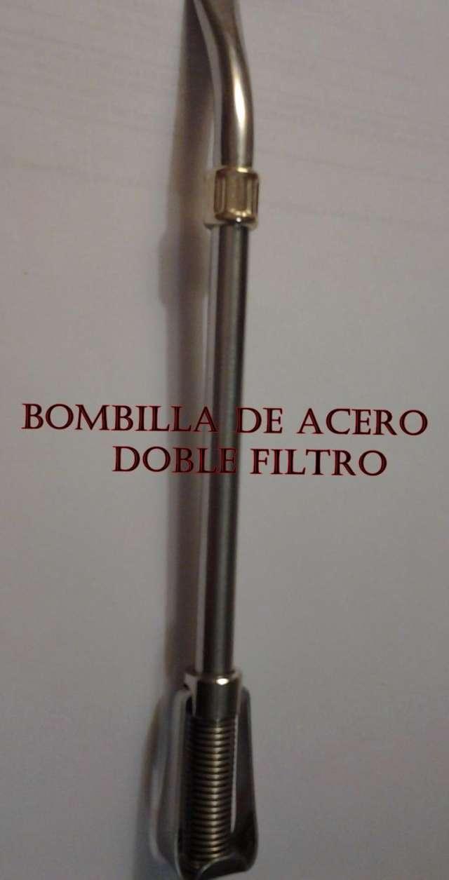 """Bombillas de acero doble filtro """" eterna"""""""