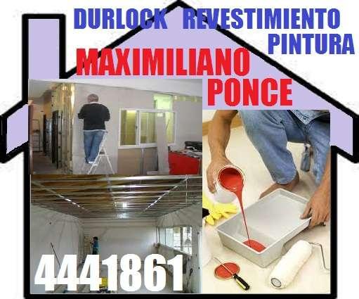 Durlock y pintura revestimiento en seco