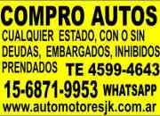 Compro autos usados de todas las marcas y modelos en cualquier estado. Incendiados, chocados, volcados, fundidos,con faltantes, Camiones, 4x4 pick up, Autos de plan. VAMOS A DOMICILIO Llámenos al (011