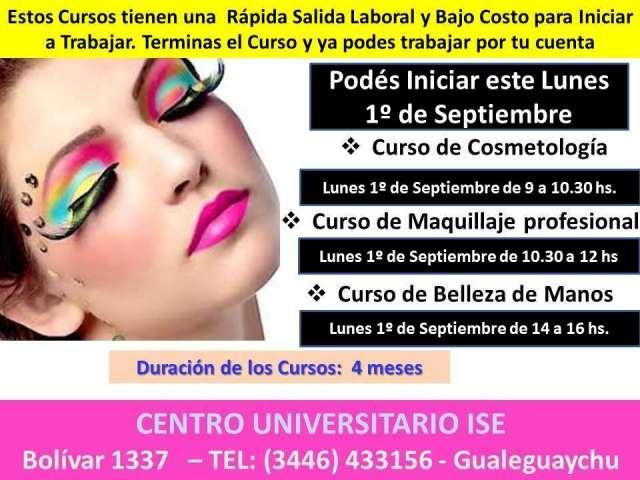 Curso de cosmetología, maquillaje profesional y belleza de mano