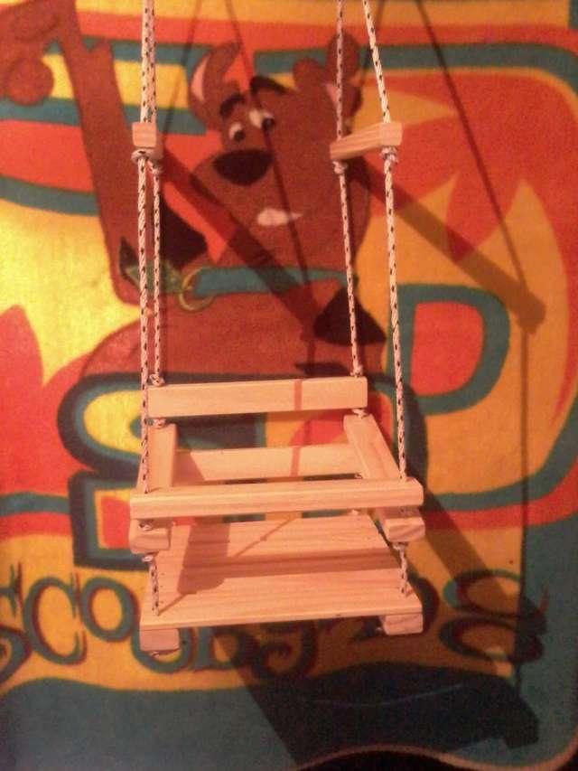 Hamaca de madera para colgar chicos niños bebes,plaza,jardin ...