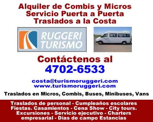 Alquiler de minibuses, buses para general pacheco [4702 6533]