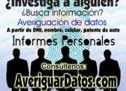 Búsqueda de personas por DNI, Nombre, Celular o Patente: $ 50