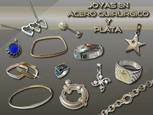 c04e8e19f45b Mayorista de joyas en acero quirurgico y plata .somos importadores directos  . envios a todo ...