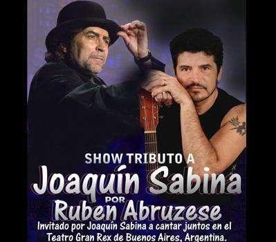 Tributo a joaquín sabina por ruben abruzese. show para fiestas.