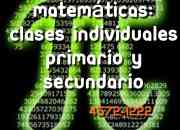 Matemáticas, secundario apoyo particular Villa Pueyrredón